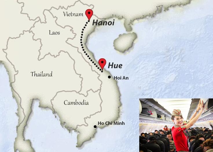 Départ de Hué arrive à Hanoï