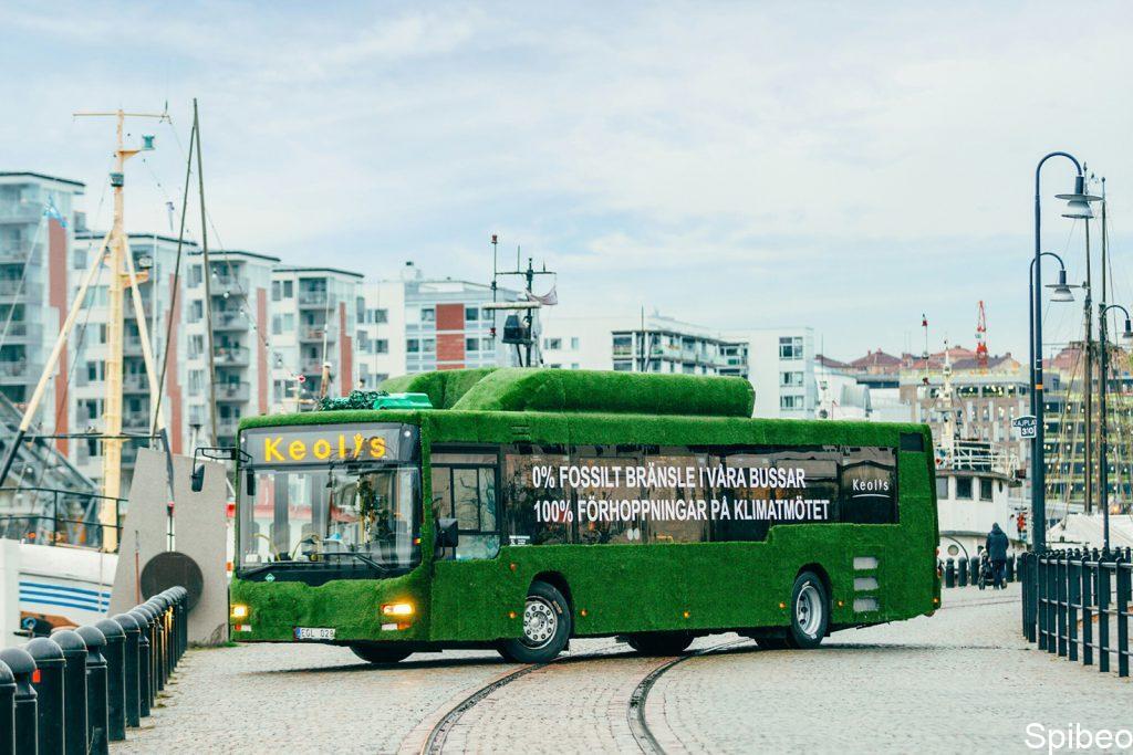 Stockholm, avec ses bus roulant grâce aux eaux usées de la ville